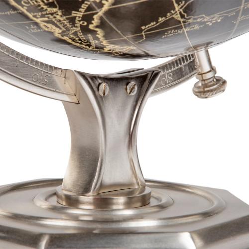 Black Vaugondy French 1745 World Globe Pewter Finished Stand