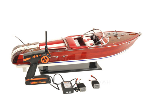 RC Riva Aquarama Speed Boat Wood Model Radio Controlled