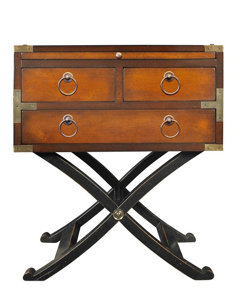Campaign Bombay Box Honey End Table