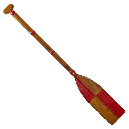 Red Oar Paddle Kids Wooden Coat Rack