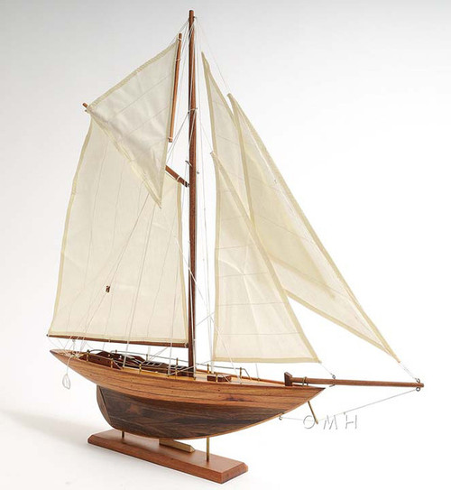 Eric Tabarlys Yacht Pen Duick Wooden Model