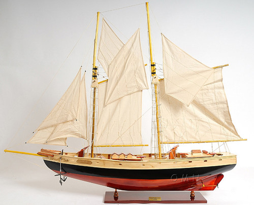 Schooner Bluenose II Wood Ship Model Sailboat