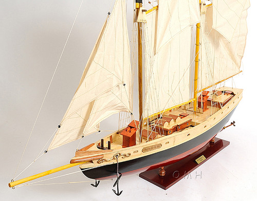 Schooner Bluenose II Wooden Ship Model Sailboat