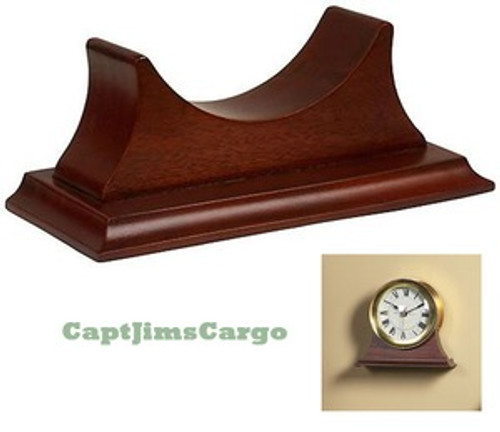 Brass Ship Clock Quartz Wall Mantle Desk