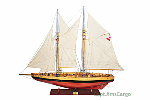 XL Canadian Schooner Bluenose Wood Ship Model