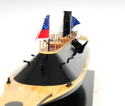 CSS Ironclad Wood Ship Model Confederate Navy