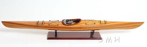 Cedar Strip Kayak Wooden Display Canoe Model