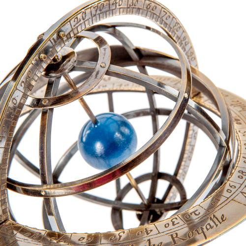 Bronze Armillary Dial Sphere Globe Desk Top