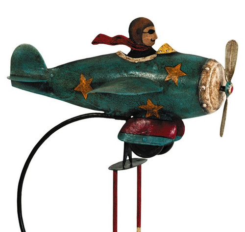 Flying Ace Airplane Metal Balance Tetter Toy