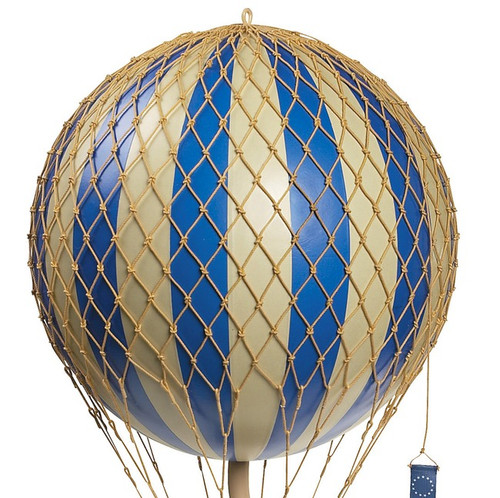 Blue Royal Balloon Model Hanging Aviation Decor