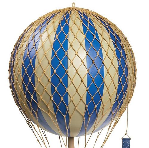 Blue Royal Balloon Model Hanging Aviation Decor