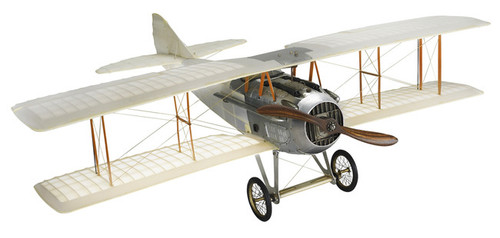 Transparent WWI Spad XIII Biplane Wood Model