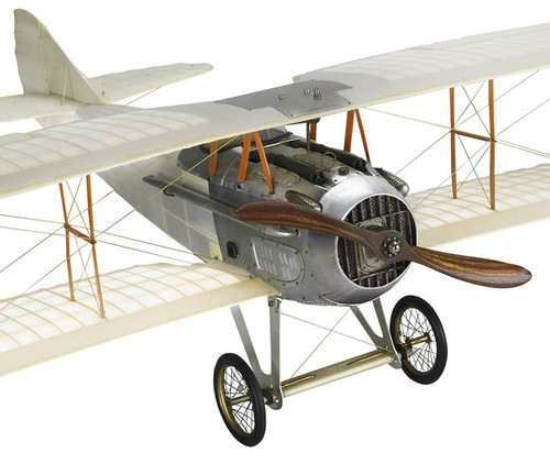 Transparent WWI Spad XIII Biplane Built Model