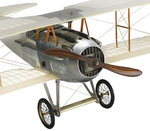 WWI Spad XIII Biplane Built Wood Model