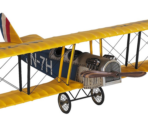 WWI Curtiss Jenny Biplane Barnstormer Wood Model