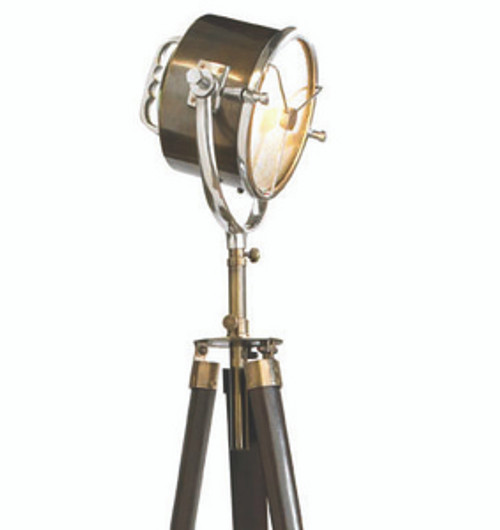 Bronze Ships Searchlight 1940 Floor Lamp Light