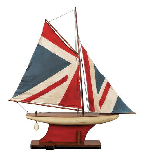 Union Jack Flag Pond Yacht Model Authentic Models