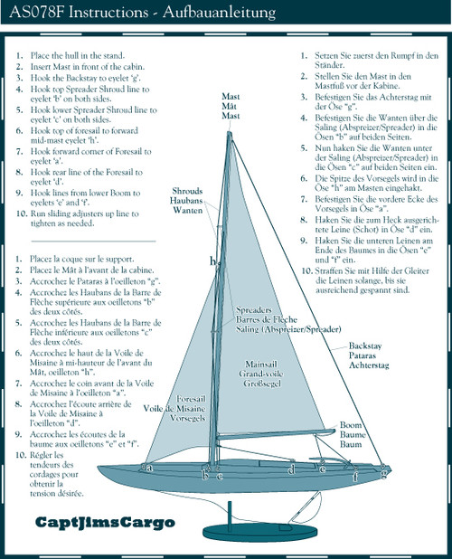 Dragon Olympic Sail Racer Model Instructions