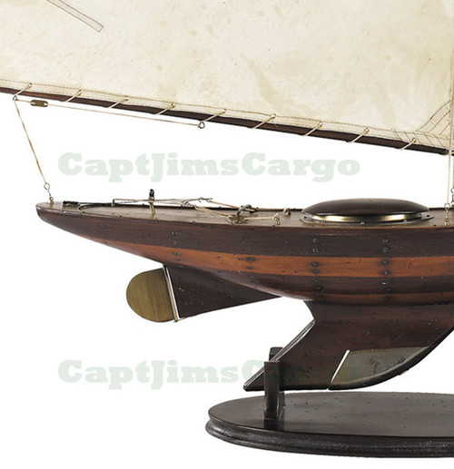 Antiqued Yacht Ironsides Wooden Model Sailboat