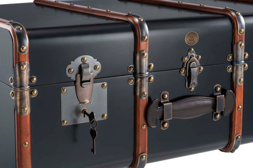 Stateroom Steamer Travel Trunk Coffee Table Black