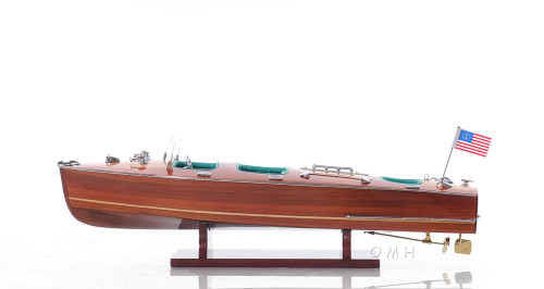 Chris Craft Triple Cockpit Runabout Wooden Model