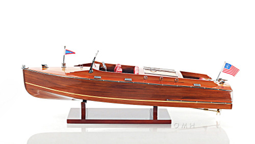 Chris Craft Runabout Wood Model Speed Boat