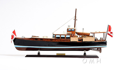 Dolphin Canada Motor Yacht Wooden Model Power Boat