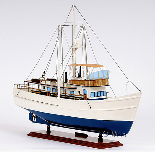 Dickie Walker Trawler Motor Yacht Wooden Model