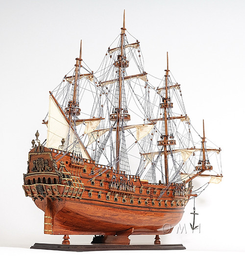Dutch De Zeven Provincien Wood Model Ship