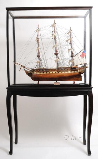 Wood Tall Ship Model Boat Display Case