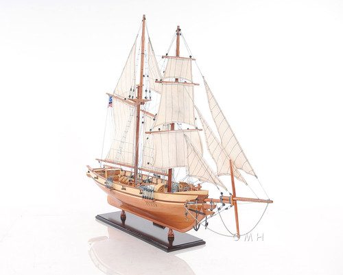 Harvey 1847 Baltimore Clipper Wood Model Privateer
