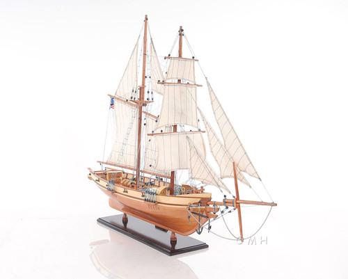 Harvey 1847 Baltimore Clipper Wood Model Privateer