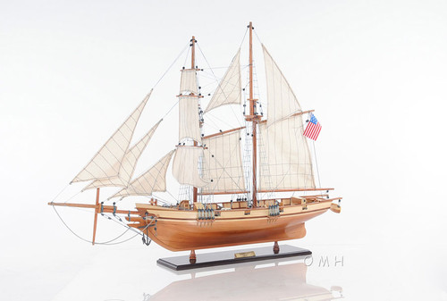 Harvey 1847 Baltimore Clipper Model Privateer Ship