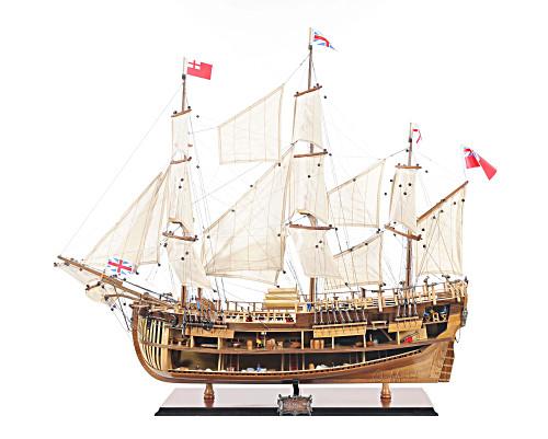 HMS Bark Endeavour Cutaway Tall Ship Model