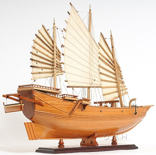 Chinese Junk Wooden Pirate Model Ship Sailboat