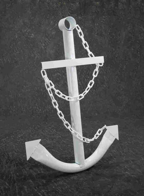 White Ships Anchor Metal Nautical Home Decor
