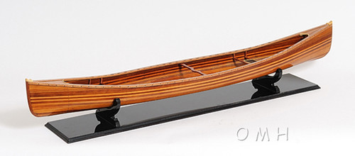 Hugh Wooden Strip Built Canadian Canoe Model