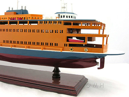 Staten Island Car Ferry Boat Wooden Model