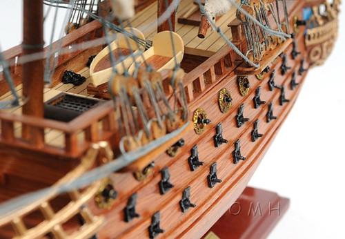 San Felipe Spanish Galleon Wood Model Sailboat
