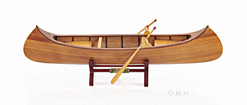 Rushton Indian Girl Canoe Model Handcrafted Wooden Boat