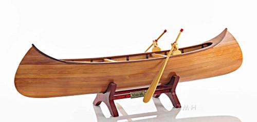 Rushton Indian Girl Canoe Model Handcrafted Wooden Boat