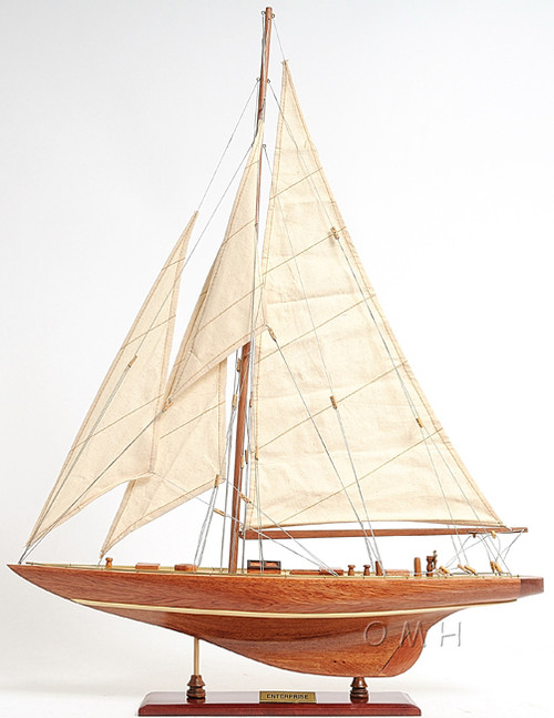 Enterprise America's Cup Yacht J Boat Wooden Model