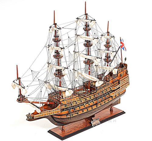 HMS Sovereign Seas Wooden Model Tall Sailing Ship