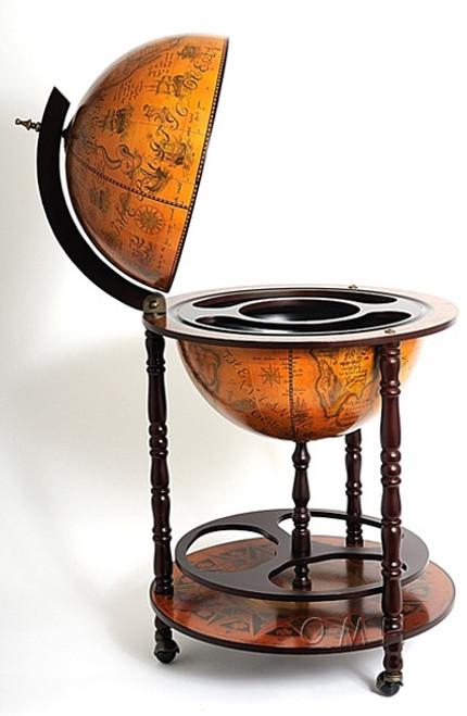 Nautical Old World Renaissance Globe Home Bar