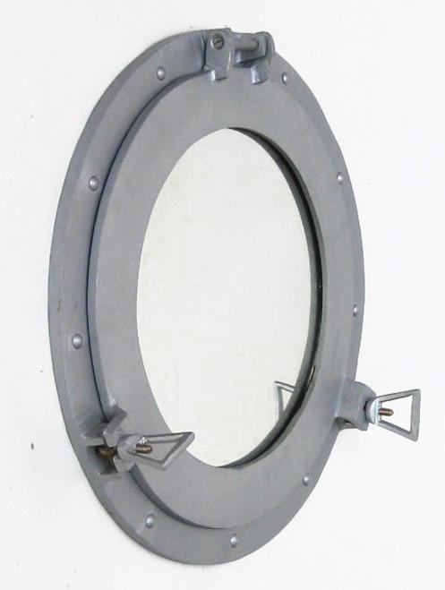 Aluminum Finish Ships Cabin Porthole Mirror Round