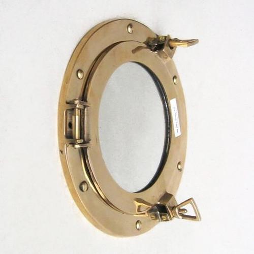 Brass Ships Cabin Porthole Mirror Round Wall Decor