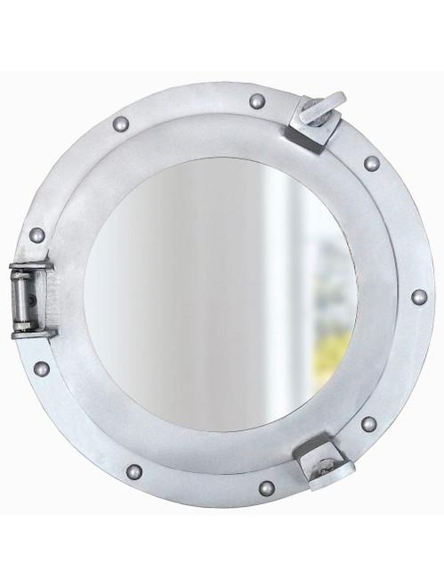 Aluminum Finish Ships Cabin Porthole Mirror Nautical