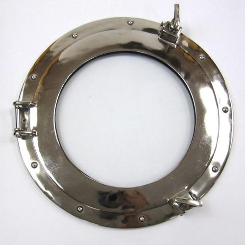 Aluminum Chrome Finish Ships Porthole Glass Window