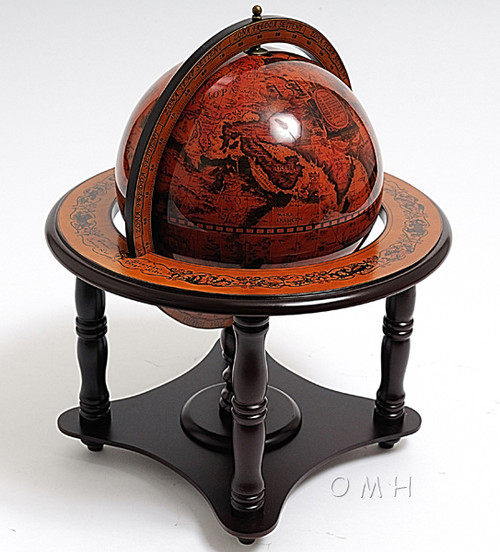 Nautical World Globe Table Top Wooden Stand