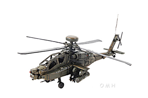 Boeing AH-64 Apache Metal Desk Top Model